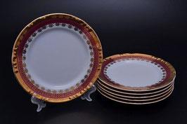 Набор закусочных тарелок Thun КОНСТАНЦИЯ РУБИН ЗОЛОТО 19 см
