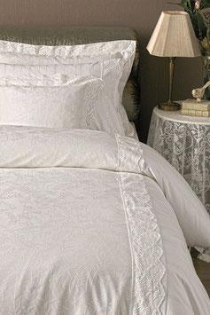Постельное Белье VALERON SATIN JACQUARD 2 спальное BARCLAY Молочный