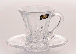 Набор для кофе Bohemia Crystal ВЕЛЛИНГТОН на 6 персон 12 предметов