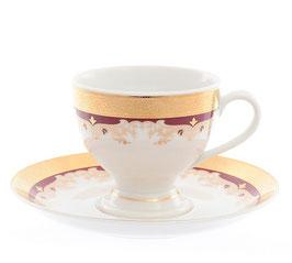 Набор для кофе Thun КРАСНАЯ ЛИЛИЯ на 6 персон 12 предметов