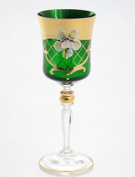 Набор бокалов для вина Star Crystal ЛЕПКА СМАЛЬТА ЗЕЛЕНАЯ 250 мл