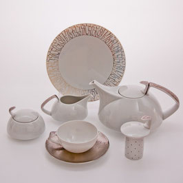 Немецкий чайный сервиз  Roshental ТАЦСКИН ПЛАТИН на 6 персон 21 предмет ( артикул МН 19483 В )