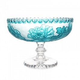 Хрустальная ваза для фруктов Alladin Glass РОЗЫ 33 см