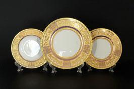 Набор тарелок для сервировки стола Falkenporzellan DIADEM VIOLET CREME GOLD 18 штук