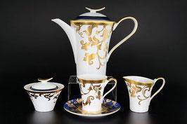 Чайный сервиз Falkenporzellan TOSCA BLUESHADE GOLD на 6 персон 15 предметов