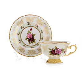 Набор для чая РОЗА Carlsbad на 6 персон 12 предметов