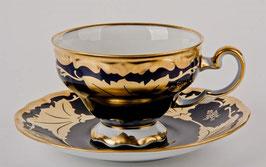 Набор для чая Weimar КЛЕНОВЫЙ ЛИСТ СИНИЙ на 6 персон 12 предметов ( артикул МН 7920 В )