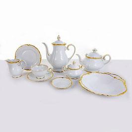 Чайный сервиз Reichenbach БАРОККО ЗОЛОТО на 6 персон 29 предметов