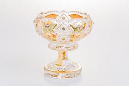 ХРУСТАЛЬ С ЗОЛОТОМ ваза для варенья 12,5 см