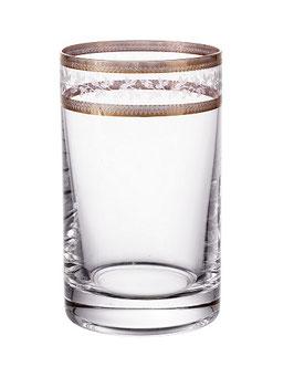 Набор стаканов КЛАУДИЯ  ЗОЛОТОЙ ЛИСТ Bohemia Crystal 150 мл