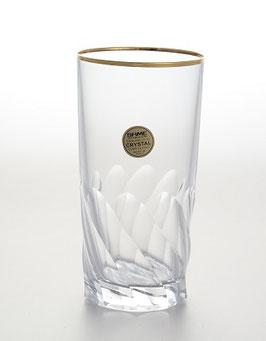 Набор хрустальных стаканов Same ПАЛЕРМО ЗОЛОТО 350 мл
