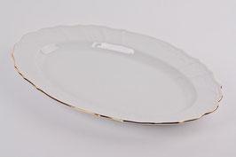 Блюдо овальное Bernadotte ЗОЛОТОЙ ОБОДОК 39 см