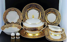 Столовый сервиз Falkenporzellan NATALIA COBALT GOLD на 6 персон 25 предметов