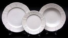 Набор тарелок для сервировки стола Bernadotte Платиновый Ободок 18 штук