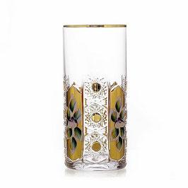 Набор стаканов Glasspo ХРУСТАЛЬ С ЗОЛОТОМ 350 мл