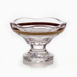 Хрустальная ваза для варенья ARNSTADT ПАЛАИС ЗОЛОТО 13 см ( артикул МН 28196 В )