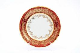 Набор закусочных тарелок Sterne Porcelan ЛИСТ КРАСНЫЙ 19 см