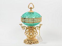 Декоративная ваза для конфет с крышкой Rozaperla 20 см