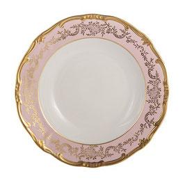 Набор глубоких тарелок Weimar ЮВЕЛ Розовый 24 см ( артикул МН 51836 В )