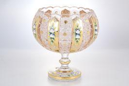 Хрустальная ваза для фруктов Max Crystal ХРУСТАЛЬ С ЗОЛОТОМ 25 см