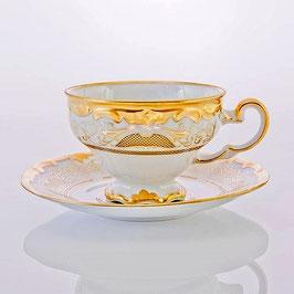 Набор для чая Weimar СИМФОНИЯ ЗОЛОТАЯ на 6 персон 12 предметов ( артикул МН 3656 В )