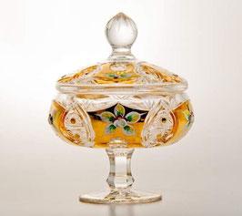 ХРУСТАЛЬ С ЗОЛОТОМ ваза для конфет 15,5 см