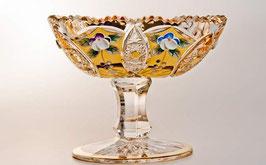 ХРУСТАЛЬ С ЗОЛОТОМ ваза для конфет 16 см