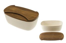 Деревянная хлебница с доской LEGNOART 35*20*15 см