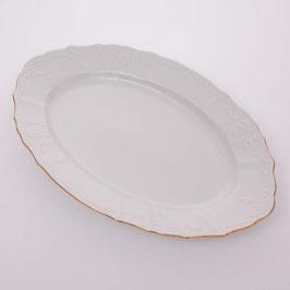 Блюдо овальное Bernadotte ЗОЛОТОЙ ОБОДОК 34 см