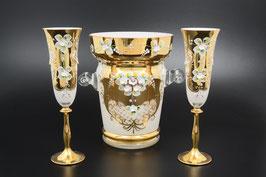 Набор для шампанского ЛЕПКА СМАЛЬТА БЕЛАЯ 7 предметов