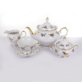 Чайный сервиз Epiag АЛЯСКА ЗОЛОТОЙ УЗОР на 6 персон 15 предметов