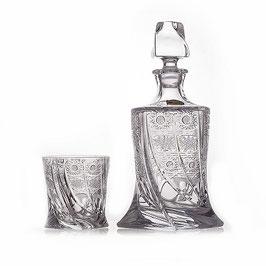 Набор хрустальный КВАДРО СНЕЖИНКА Bohemia Crystal 7 предметов