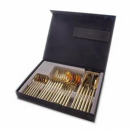 Набор столовых приборов Herdmar DEZIRE GOLD на 6 персон 24 предмета