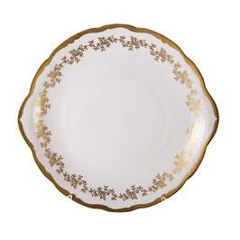 Блюдо круглое с ручками МАРИЯ ТЕРЕЗА БЕЛАЯ Bavarian Porcelain 27 см