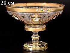 ХРУСТАЛЬ С ЗОЛОТОМ ваза для конфет 20 см
