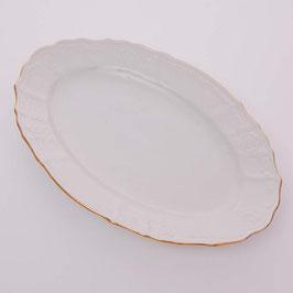 Блюдо овальное Bernadotte ЗОЛОТОЙ ОБОДОК 26 см