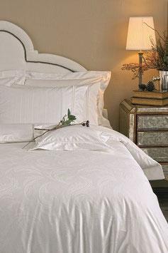 Постельное Белье VALERON SATIN JACQUARD 2 спальное ANGELIQUE Белый
