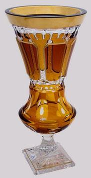 Хрустальная ваза для цветов ARNSTADT АНТИК МЕДОВЫЙ 42 см ( артикул МН 6962 В )