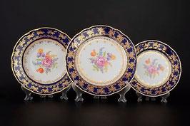 Набор тарелок для сервировки стола КОНСТАНЦИЯ ПОЛЕВОЙ ЦВЕТОК  Thun 18 штук