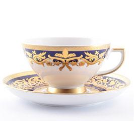 Набор для чая Falkenporzellan NATALIA COBALT GOLD на 6 персон 12 предметов