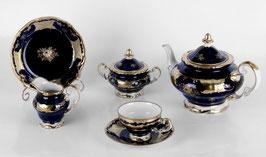 Немецкий чайный сервиз Weimar КЛЕНОВЫЙ ЛИСТ СИНИЙ на 6 персон 21 предмет ( артикул МН 3792 В )