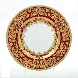Набор закусочных тарелок Falkenporzellan NATALIA BORDEAUX GOLD 23 см