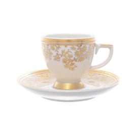 Набор для кофе Falkenporzellan SOPHIE GOLD на 6 персон 12 предметов