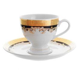 Набор для кофе Thun ЧЕРНАЯ ЛИЛИЯ на 6 персон 12 предметов