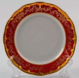 Набор десертных тарелок Weimar ЮВЕЛ Красный 17 см ( артикул МН 6238 В )
