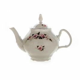 Чайник с ситечком Bernadott РОЗА СЕРАЯ ПЛАТИНА 1200 мл