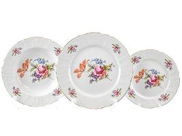Набор тарелок для сервировки стола ПОЛЕВОЙ ЦВЕТОК Bernadotte 18 штук