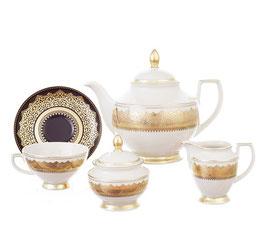 Чайный сервиз Falkenporzellan AGADIR BROWN Gold на 6 персон 15 предметов