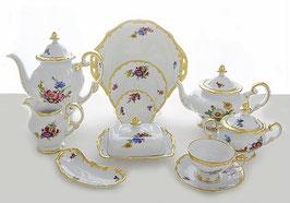 Немецкий чайный сервиз Weimar МЕЙСЕНСКИЙ БУКЕТ на 12 персон 55 предмета ( артикул МН 7522 В )