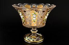 ХРУСТАЛЬ С ЗОЛОТОМ ваза для фруктов 25 см
